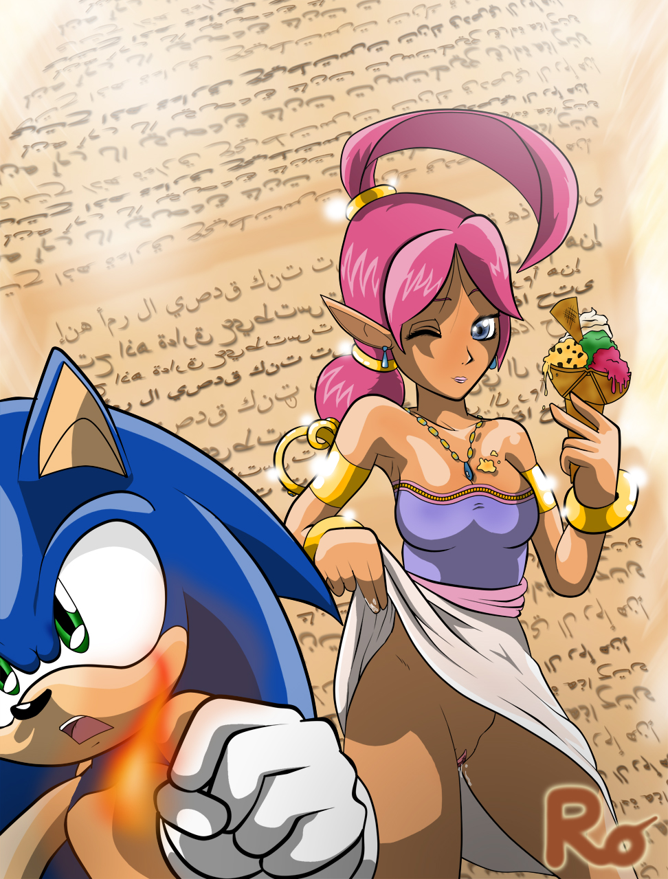 amy sonic bed and in Joan of arc fate grand order