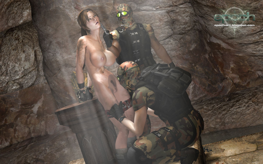 gagged and bound croft lara Five nights at anime springtrap jumpscare