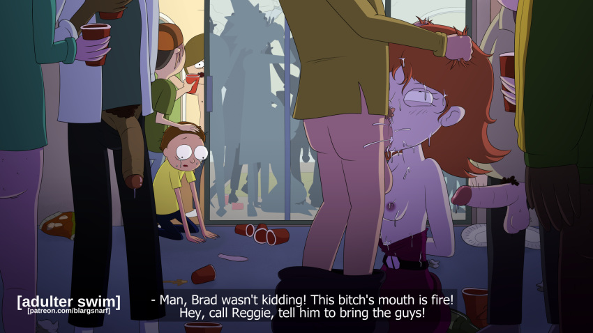 and stripper rick dragon morty Gay sex in bathroom stall